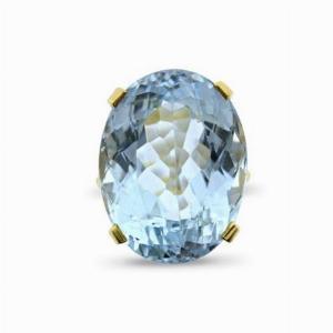 Oval Aquamarine & Diamond Dress Ring - 30.00ct